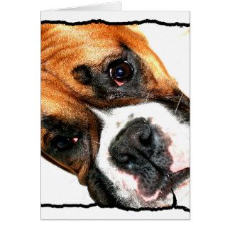 Carte pour notes de chien de boxeur