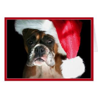Carte pour notes de chien de boxeur de Noël