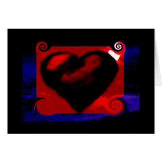 Carte pour notes de coeur