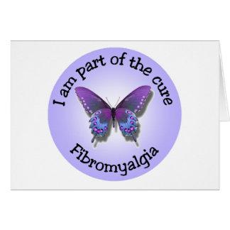 Carte pour notes de conscience de fibromyalgie -