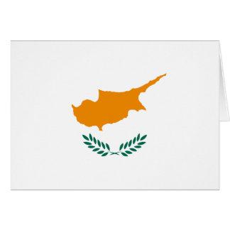 Carte pour notes de drapeau de la Chypre