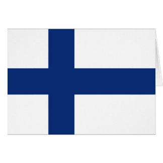 Carte pour notes de drapeau de la Finlande