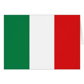 Carte pour notes de drapeau de l'Italie