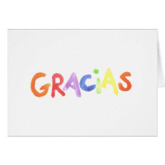 Carte pour notes de Gracias
