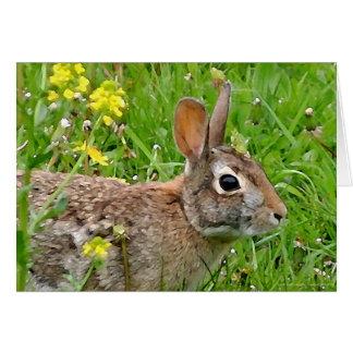 Carte pour notes de lapin de lapin