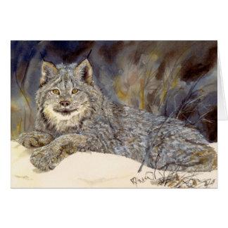 Carte pour notes de Lynx de Canadien