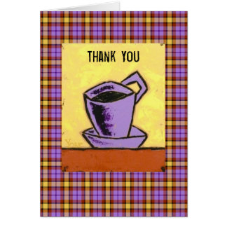Carte pour notes de Merci avec la tasse de café