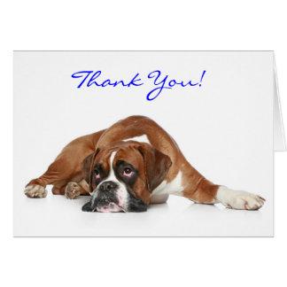 Carte pour notes de Merci de chien de boxeur -