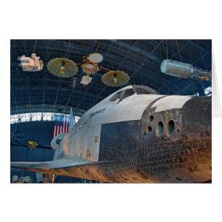 Carte pour notes de navette spatiale