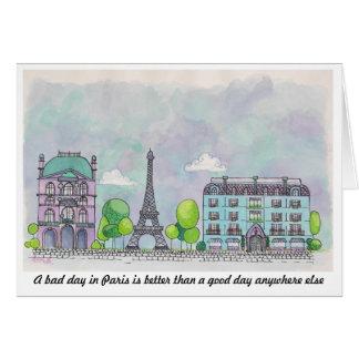 Carte pour notes de Paris