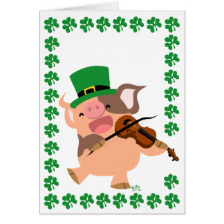 Carte pour notes de porc de violoniste du jour de