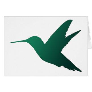 Carte pour notes de silhouette de colibri