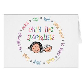 Carte pour notes de spécialistes en vie d'enfant