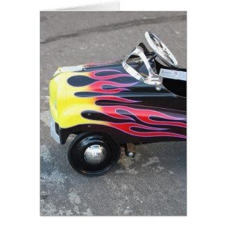 Carte pour notes de voiture de jouet