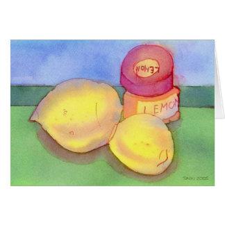 Carte pour notes d'encre et de citrons