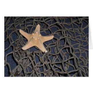 Carte pour notes d'étoiles de mer