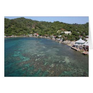 Carte pour notes d'île de Roatan