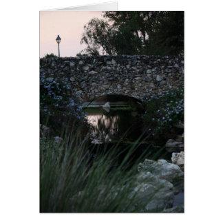 Carte pour notes en pierre de pont