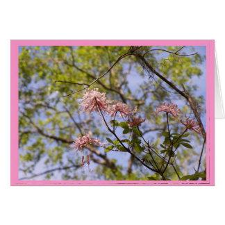 Carte pour notes floral d'azalées sauvages