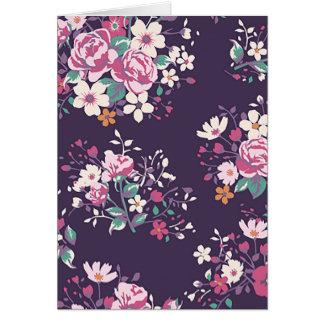 Carte pour notes floral de pourpre de fleur de