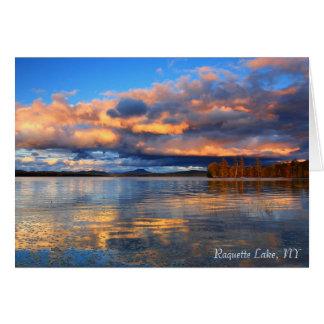 Carte pour notes - lac Raquette, NY