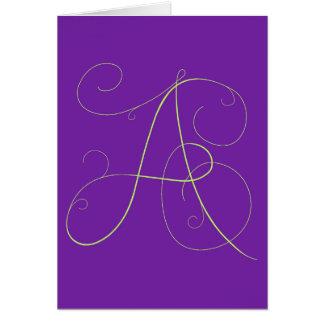 """Carte pour notes lluring de """"A """""""