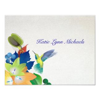 Carte pour notes personnalisé par colibri carton d'invitation 10,79 cm x 13,97 cm