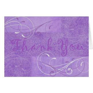 Carte pour notes pourpre élégant de Merci