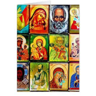 Carte pour notes religieux de thème chrétien