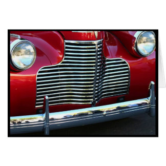 Carte pour notes rouge classique de voiture