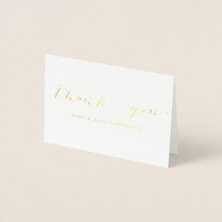 Carte pour notes simple de Merci d'or