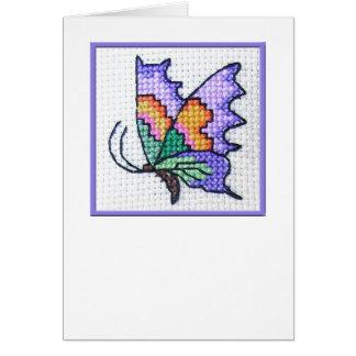 Carte pour notes vide 01 de papillon