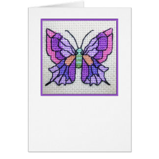 Carte pour notes vide 03 de papillon