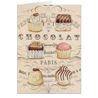 Carte pour notes vintage de Chocolat…