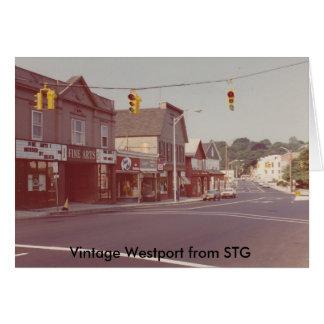 Carte pour notes vintage de Westport - théâtre de