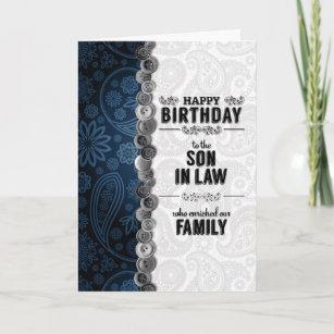 Happy Birthday to a Special beau-fils-fils en droit Carte d/'anniversaire avec bateaux