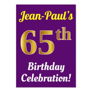 Carte Pourpre, célébration d'anniversaire d'or de Faux
