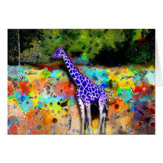 Carte pourpre de girafe
