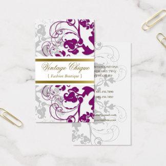 Carte pourpre de profil de prune florale de