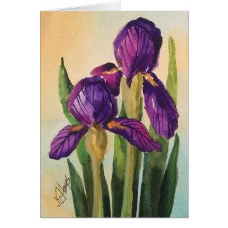 Carte pourpre d'iris