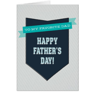 Carte préférée de fête des pères de papa