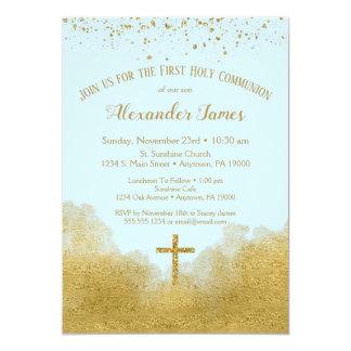 Carte Premier garçon d'invitation de sainte communion