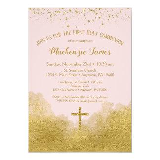 Carte Première fille d'invitation de sainte communion