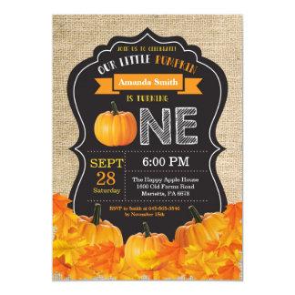 Carte Première toile de jute d'orange d'invitation