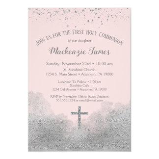 Carte Premières filles d'invitation de sainte communion