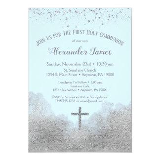 Carte Premiers garçons d'invitation de sainte communion