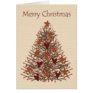 Carte primitive de vision d'arbre de Noël basse
