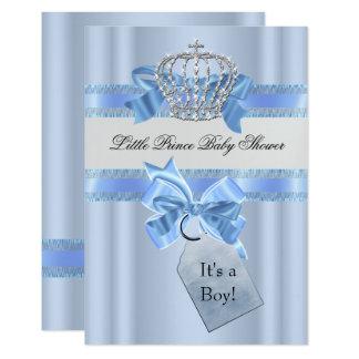 Carte Prince bleu Crown SML de garçon de baby shower