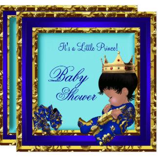 Carte Prince héritier de garçon d'or de bleu royal de