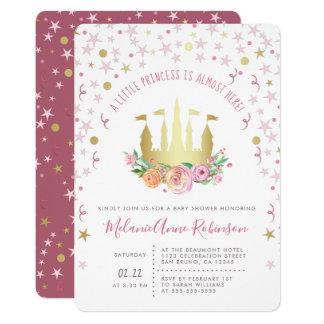 Carte Princesse de château d'or petite d'étoile féerique